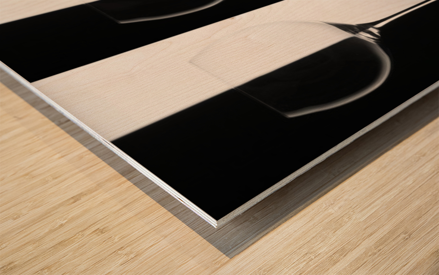 Black & White Wood print