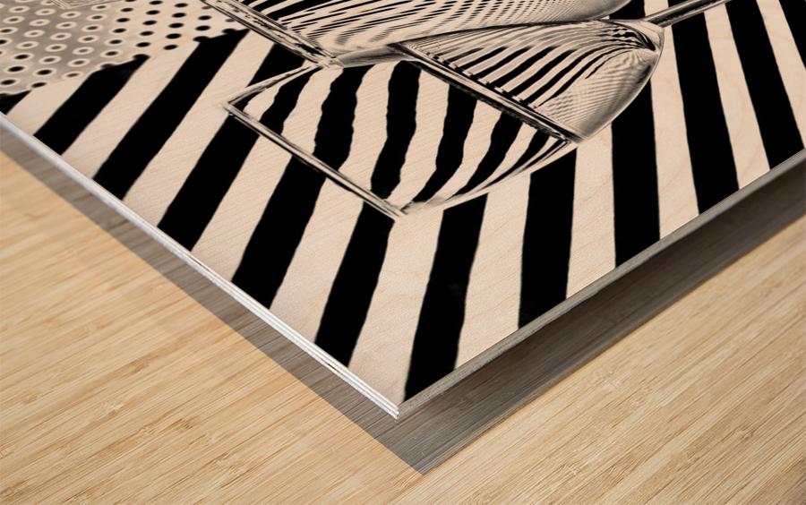 Dots and stripes Wood print