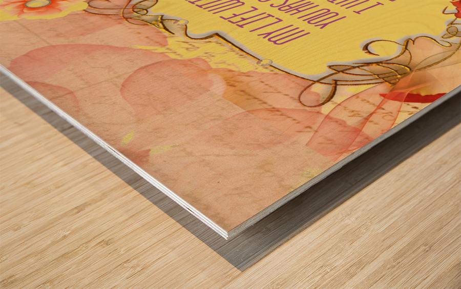 Art242 Impression sur bois