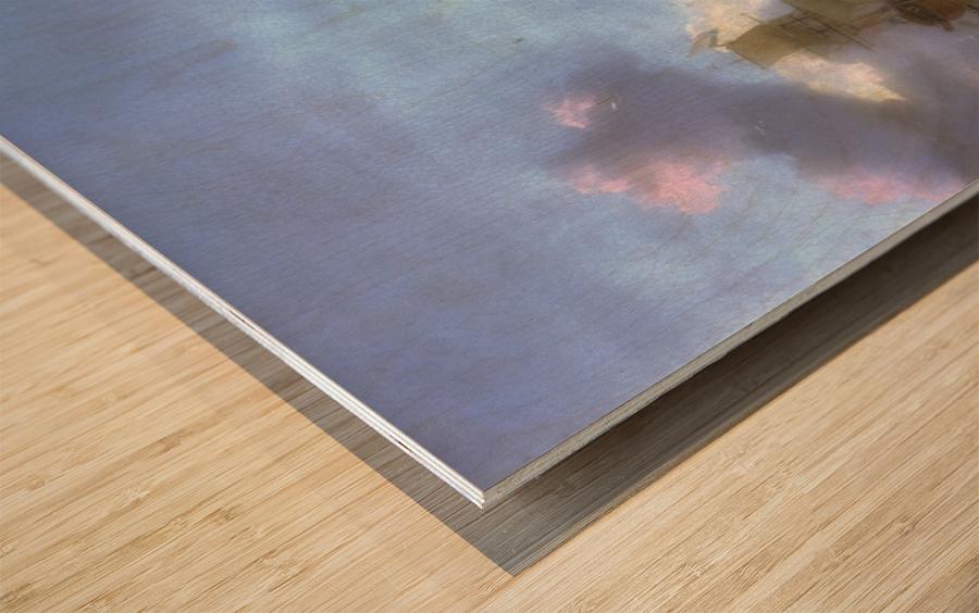 Walfang im Eismeer Wood print
