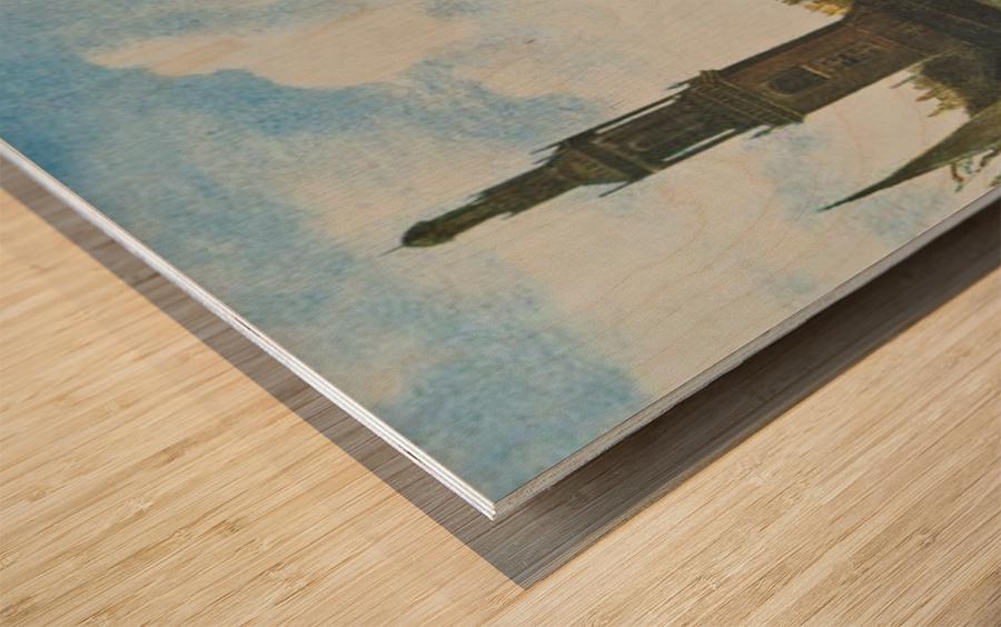 Singel in Amsterdam with the Jan Roodenpoortstoren Wood print