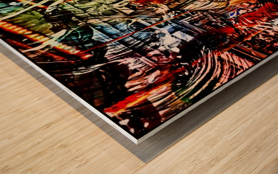 The World  Becomes a Blur Wood print
