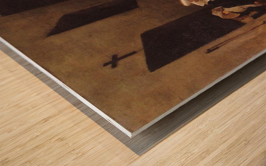 La charite Wood print