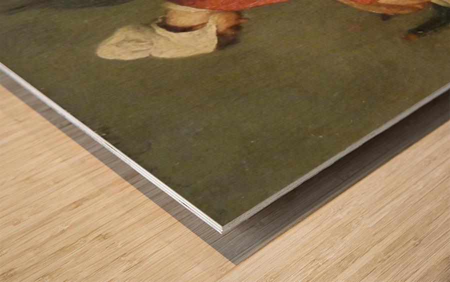 La tailleuse de soupe Wood print