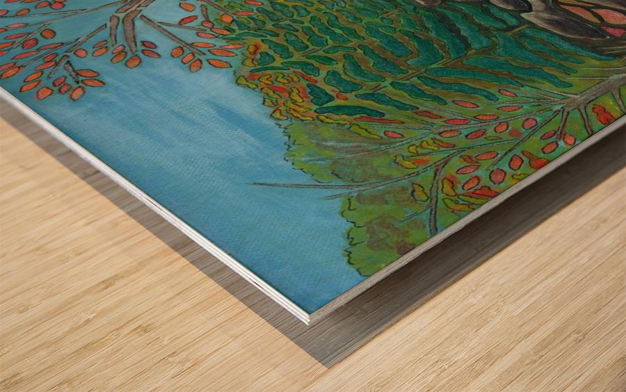 A River View Wood print