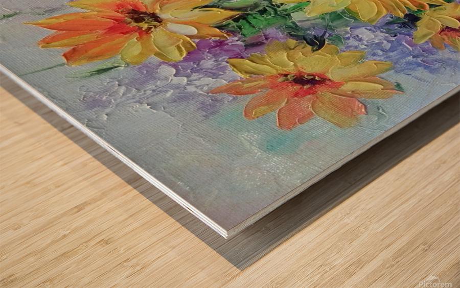 Подсолнухи Wood print