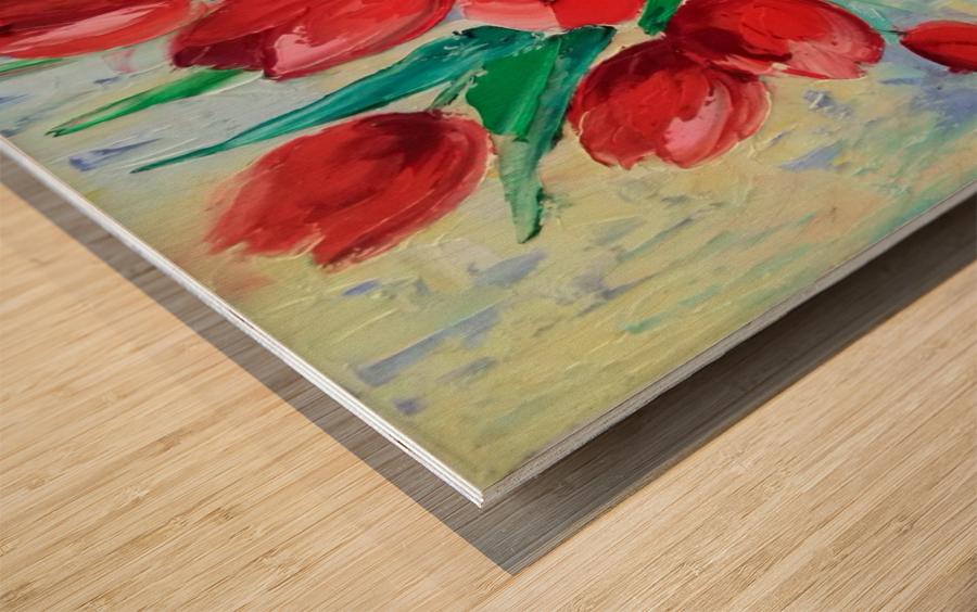 Тюльпаны Wood print
