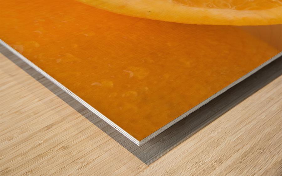 Oranges Wood print