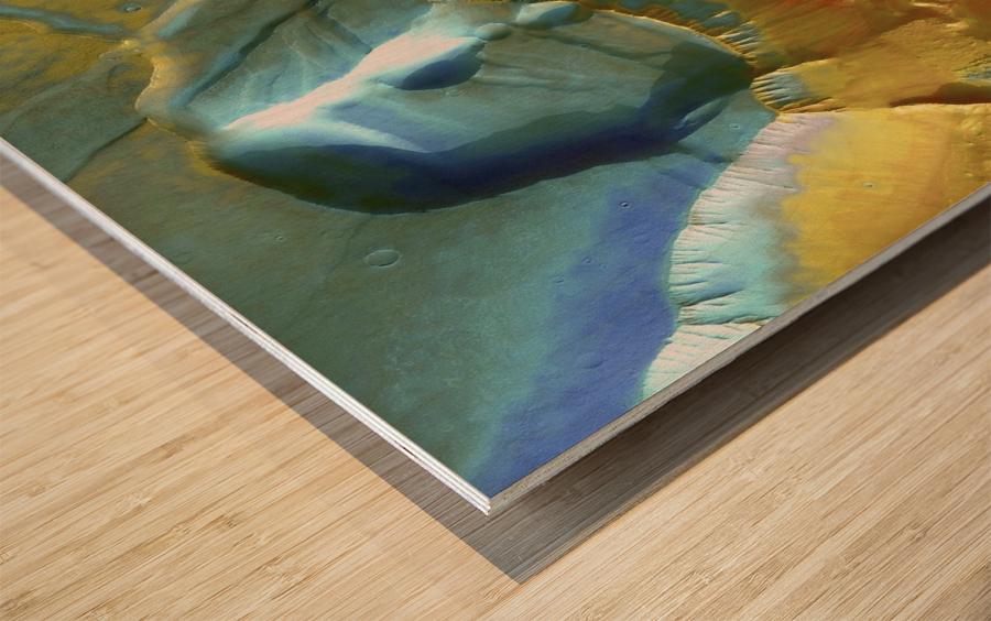 Mars Aerial View Wood print
