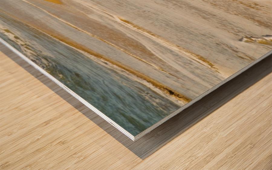 Tide On The Beach Wood print