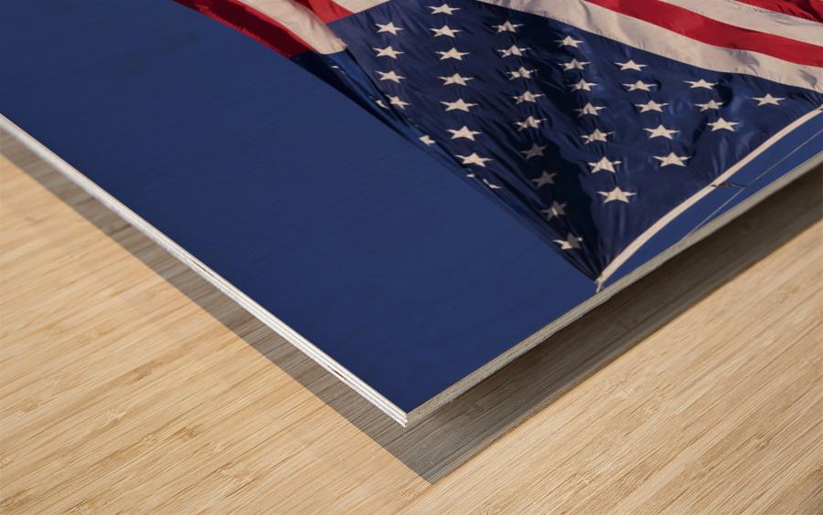 American Flag; Pahreah, Utah, United States of America Wood print