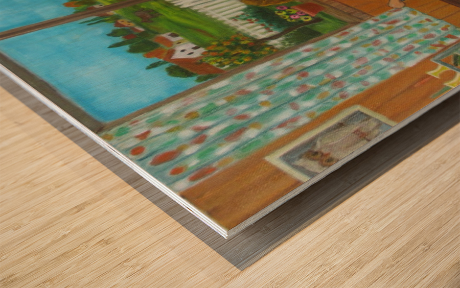 looking out the window Wood print