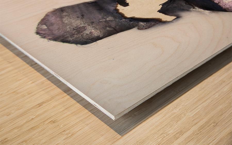 Double Exposure Serie Wood print