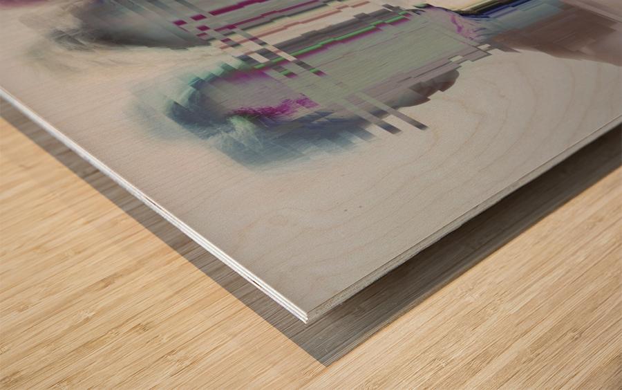 Glitch Serie Wood print