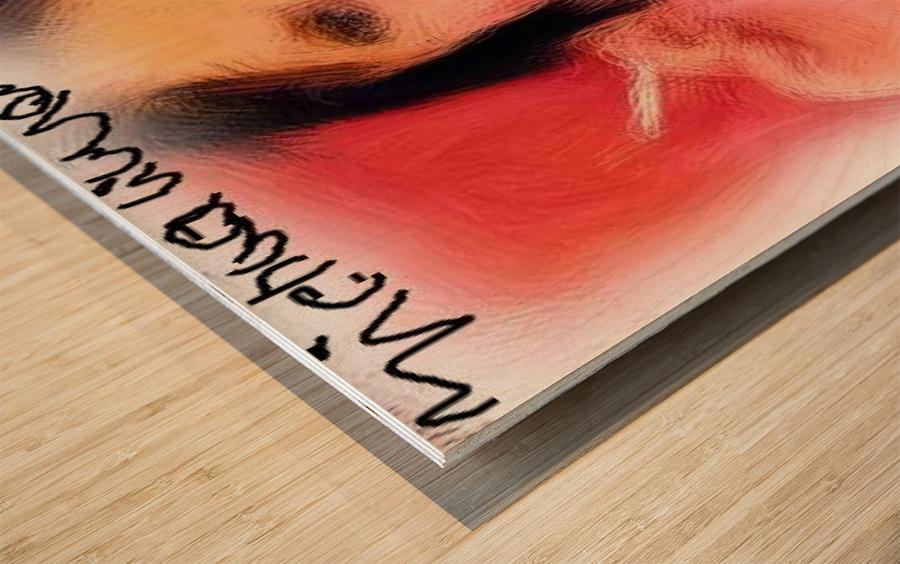 Enjoying a Cigarette Wood print