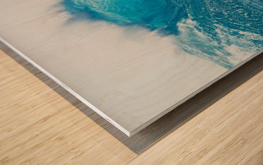 Beautiful Blue Ocean Wave Wood print