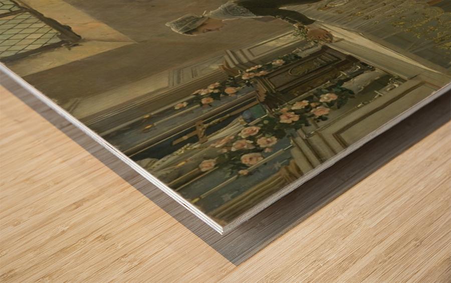 L'offrande Wood print