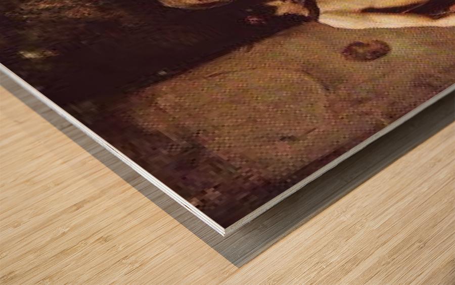 Lycenion et Daphnis Wood print