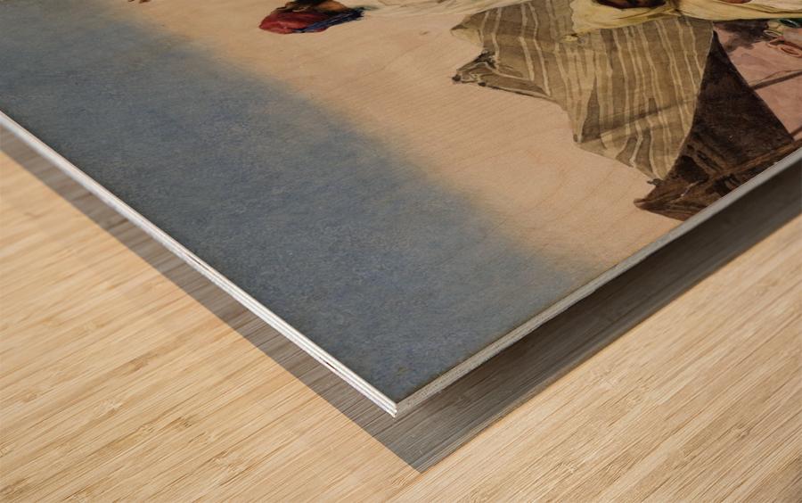 Nomades du desert Wood print