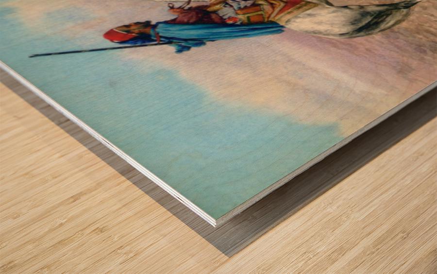 A desert camp Wood print