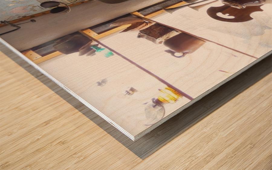 Turquoise Trail - Dentist Chair in Cerrillos  1VP Wood print