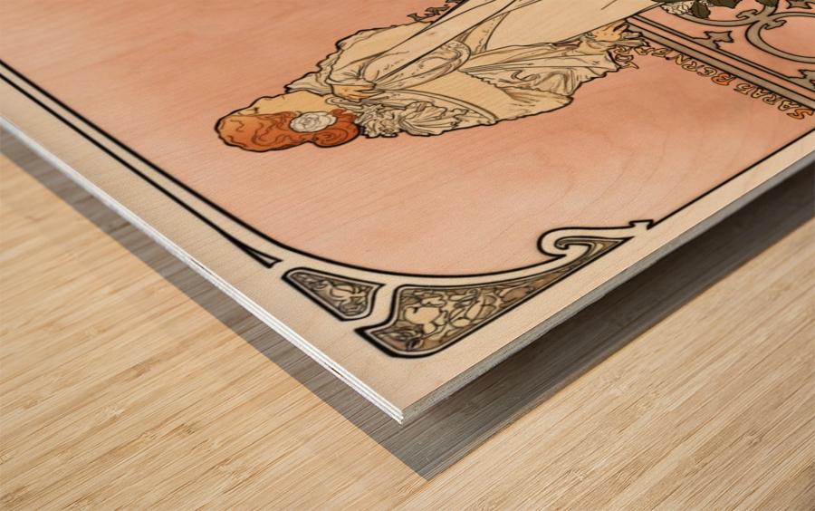 La Dame aux Camelias poster Wood print