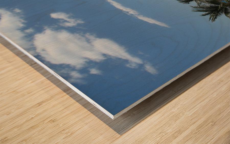Infinity Pool Wood print