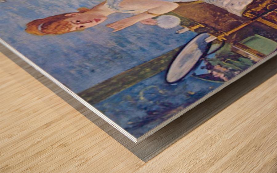 Nana by Manet Wood print