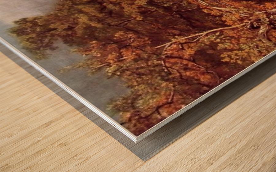 Wooded Landscape Wood print