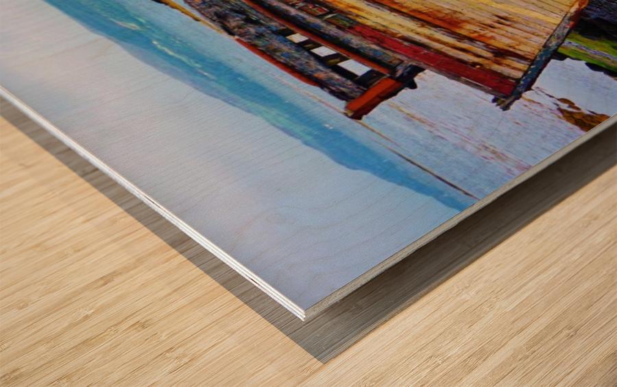 Three wrecks Wood print