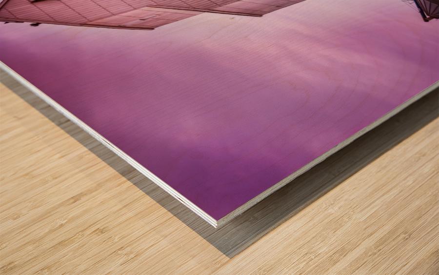 The Magenta Silos Wood print