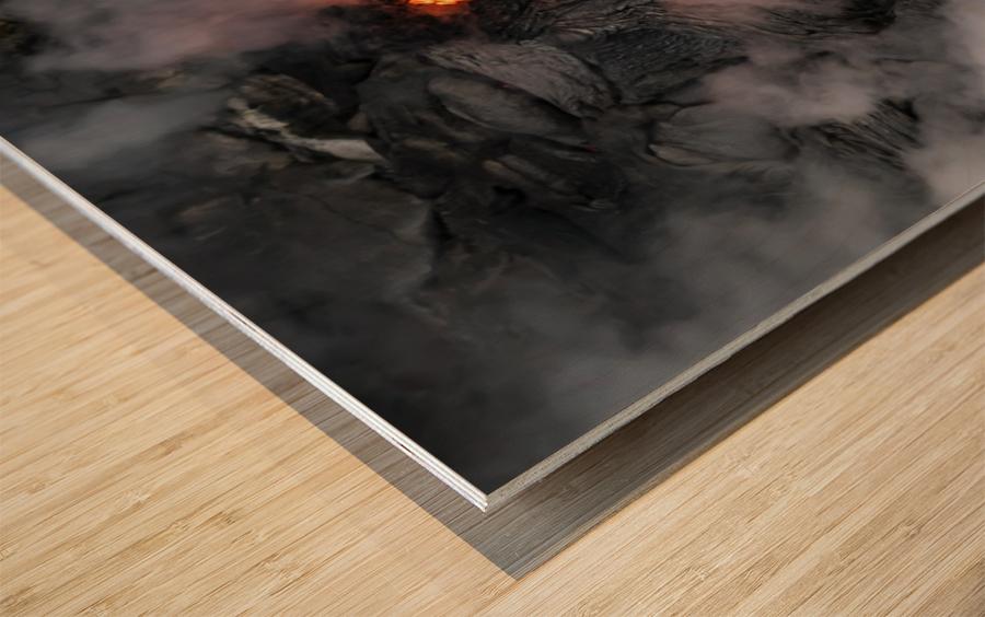 Simple lava shot Wood print