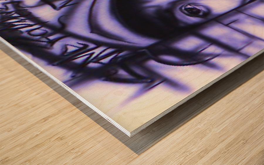 mos def Wood print