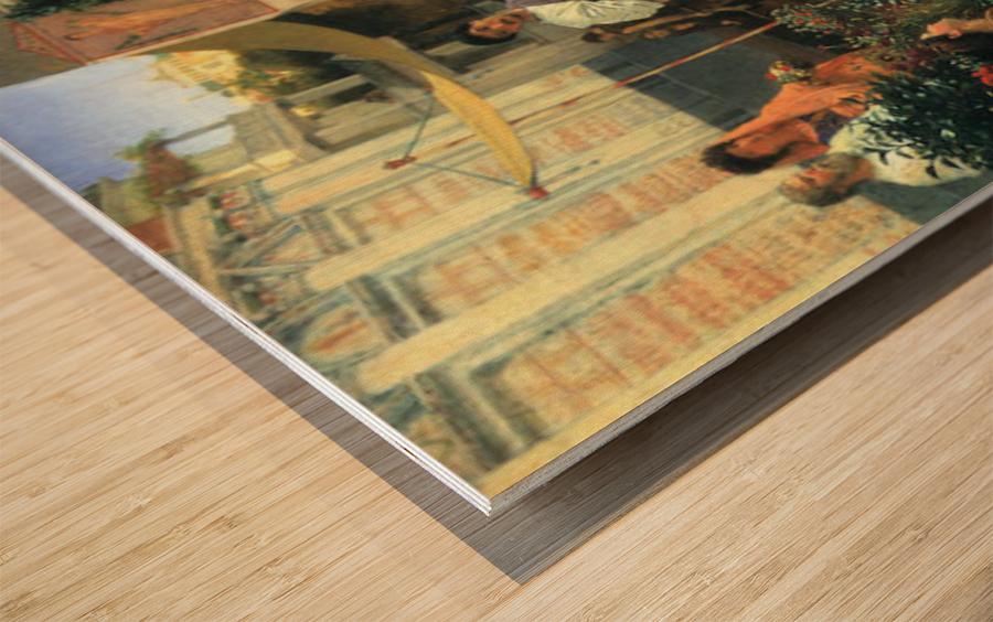The Flower Market by Alma-Tadema Wood print