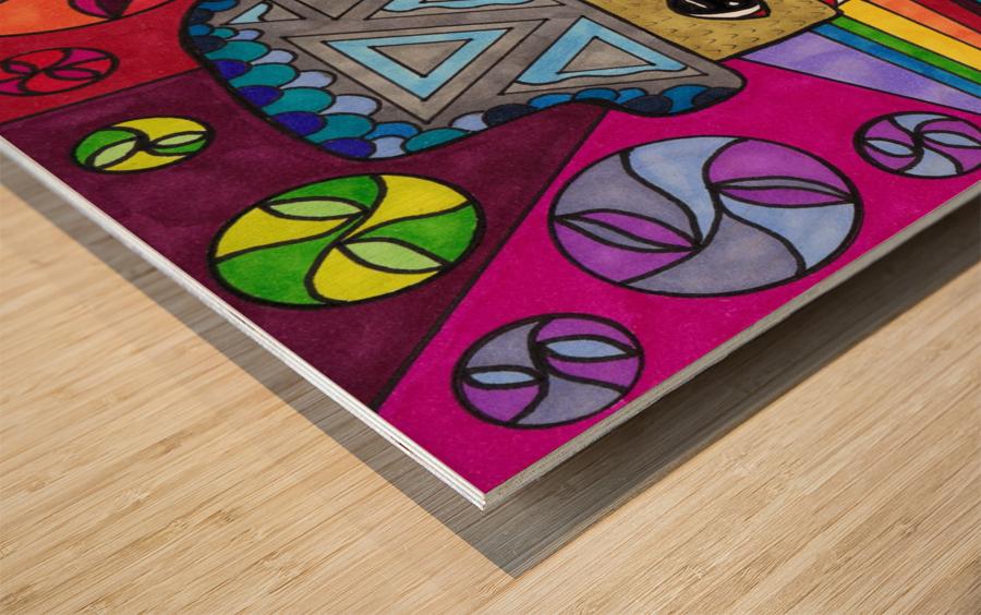 RESIST 4 Wood print
