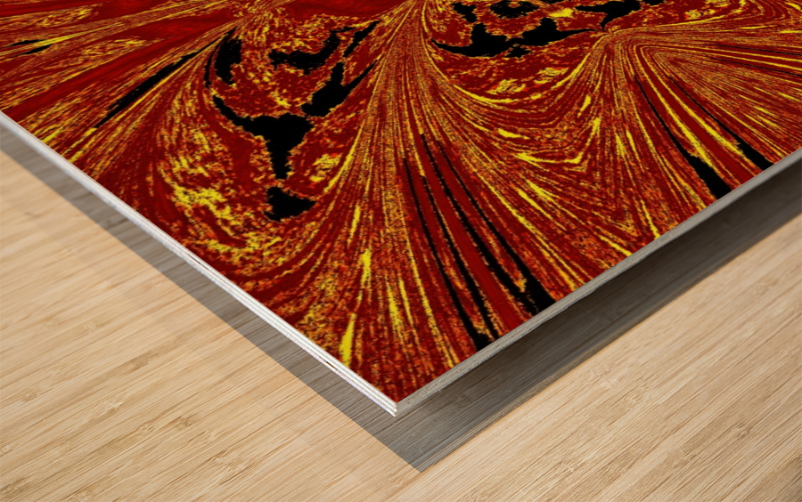 Red Yellow Butterfly Wood print