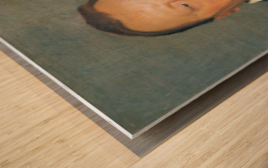 Portrait of Alfred Delisle by Felix Vallotton Wood print