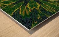 Green Flower 4 Wood print