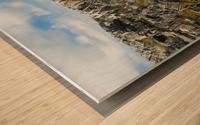 Shoreline along the Bay of Fundy, near Pubnico; Nova Scotia, Canada Wood print