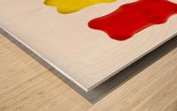 Colourful candied gummy bears in a row backlit; Calgary, Alberta, Canada Wood print