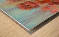 Poppies In Pastel Red Wood print