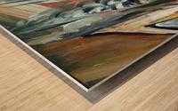 abstact canvas acrylic  Wood print