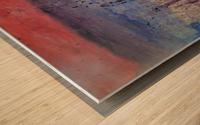Abstract Sunset Wonder Wood print