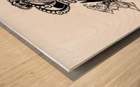 monogram crown  3 Wood print