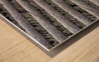 Weir steps Wood print