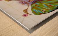 Fibonacci butterfly Wood print