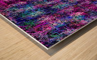 psychedelic abstract art pattern texture background in pink blue black Wood print