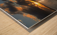 Gallows Point Sunset Wood print