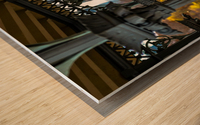 Inside Gazebo Central Park  Wood print