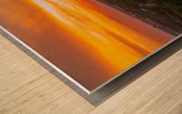 Rushville, IL Sunset Wood print